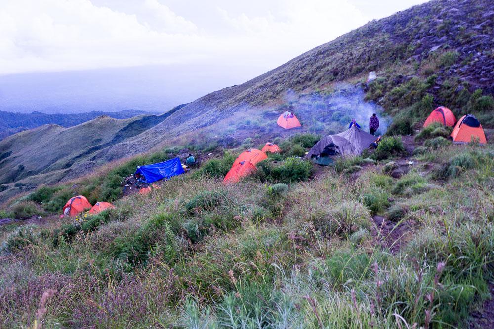 Das Camp am Krater des Rinjani